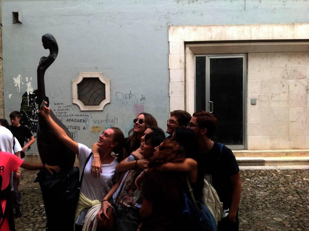 Italians selfie