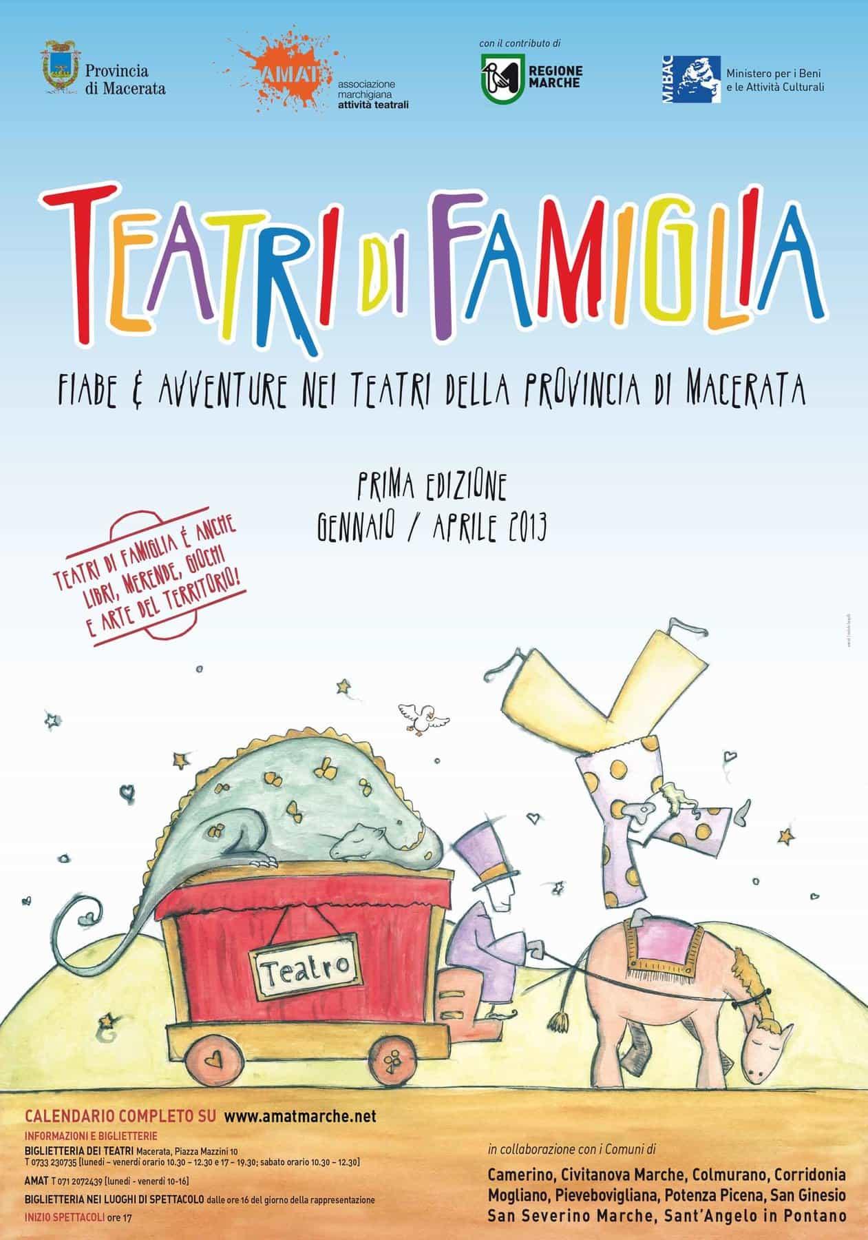 Al via Teatri di famiglia: bimbi a teatro nella provincia di Macerata