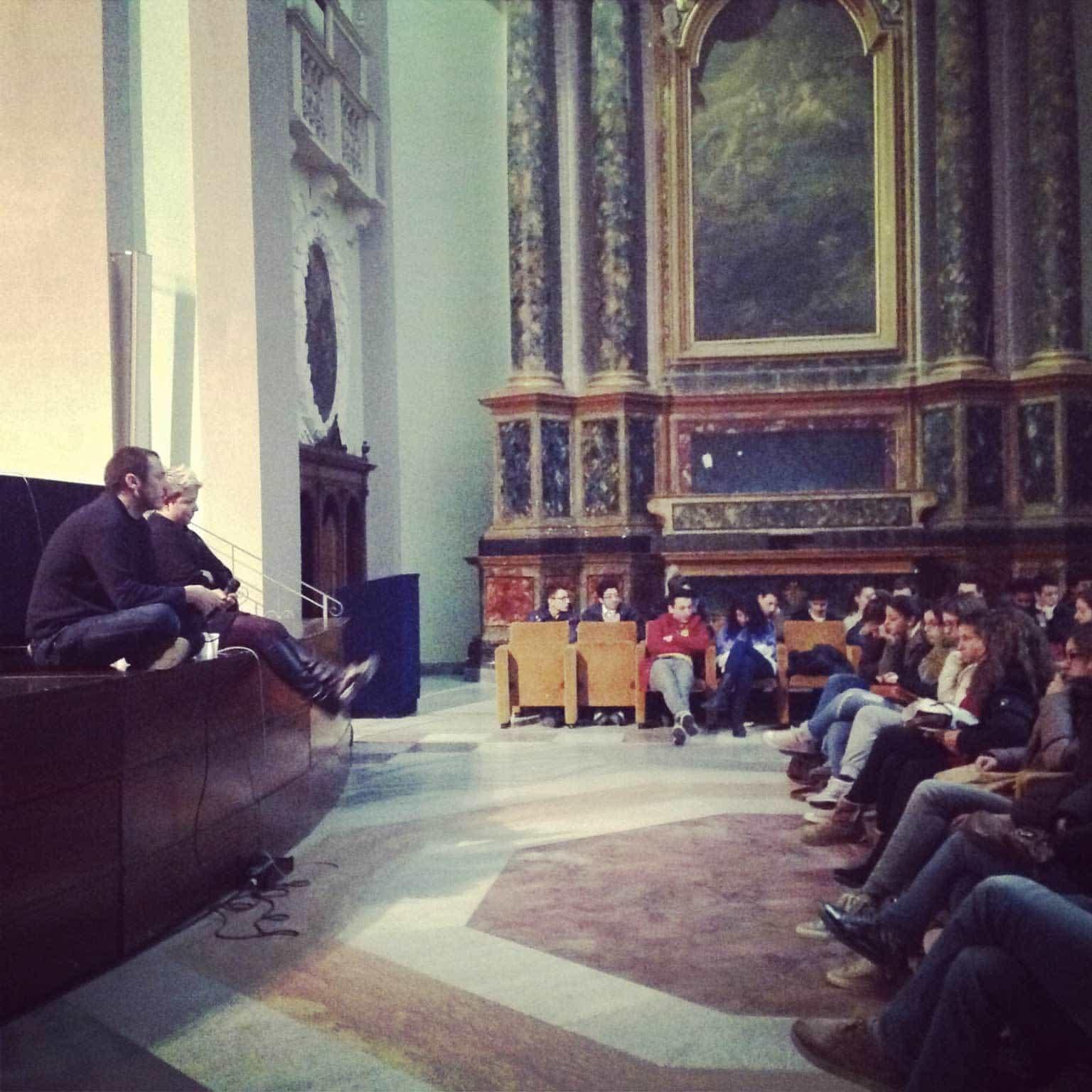 Enrico Castellani incontra gli studenti